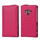 Etui en Cuir Sony Xperia Acro S LT26w Housse - Rose Chaud