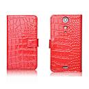Etui en Cuir Sony Xperia GX LT29i Crocodile Cover Housse - Rouge