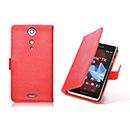 Etui en Cuir Sony Xperia TX LT29i Housse Cover - Rouge