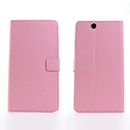 Etui en Cuir Sony Xperia Z Ultra XL39h Support Porte Housse - Rose